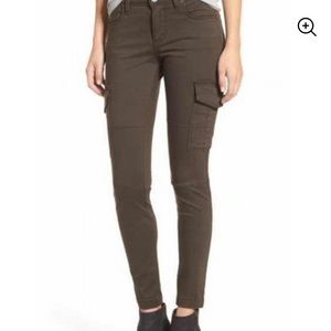 STS BLUE Olive Green Women's Cargo Pants Skinny 28